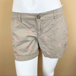 Old Navy flamingo khaki tan chino shorts